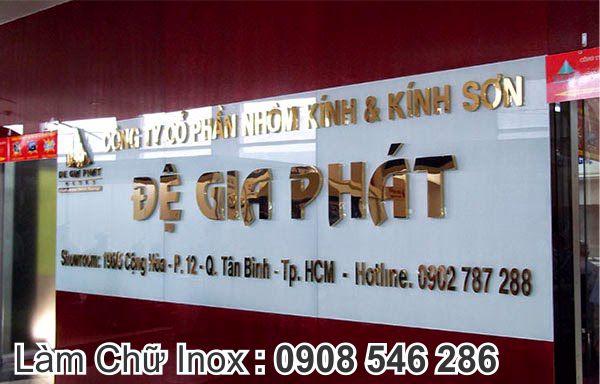 chữ inox vàng công ty