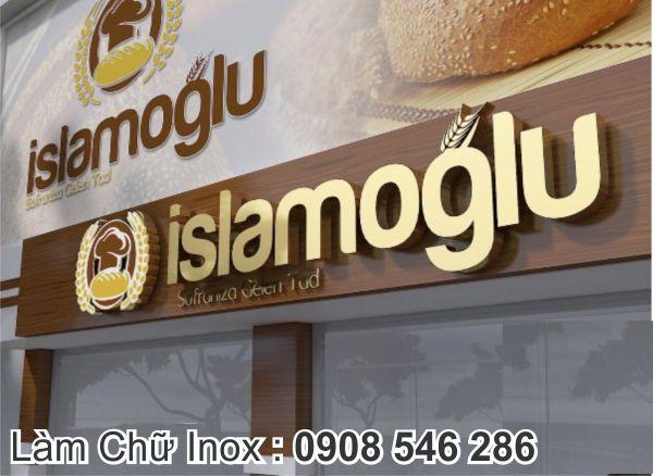 logo chữ inox vàng